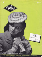vintage ladies fair isle glove and mittens knitting pattern 1940s