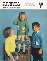 vintage picture or intarsia knit for child jumper