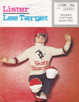 vintage knitting pattern boys skate board jumper