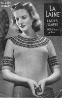 vintage ladies fair isle knitting patterns