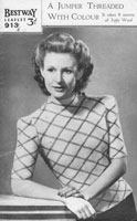vintage ladies fair isle knitting pattern from Bestway