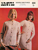 vintage knittingpatern for aran coat