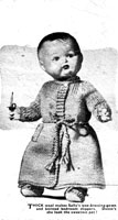 vintage dolls dressing gown knitting pattern from 1950s