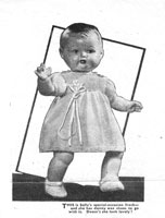 vintage 17 inch baby doll knitting pattern Sally dress