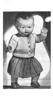 vintage doll knitting pattern for 17 inch baby doll from 1950s dress and skirt