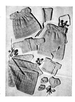 sarah dress set knitting pattern for 1950s 10 inch doll