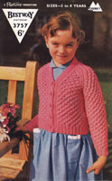 vintage girls lacy cardigan knitting patterns 1950s
