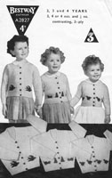 vintage cardigan knitting pattern girls chicks 1940s