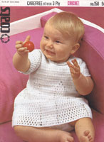 vintage baby dress crochet pattern