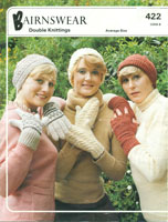 vintage knitting pattern for ladies gloves in aran