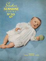 vintage baby matinee coat pattern 1940s sunshine series