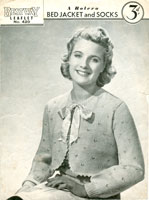 vintage bedjacket knitting patterns
