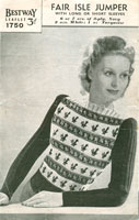 vintage fair isle knitting patterns for ladies jumper