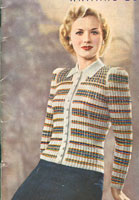 vintage knitting pattern for fair isle cardigan