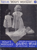 vintage doll knitting patterns 1930