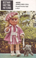 vintage bestway doll knitting pattern for 20 inch doll