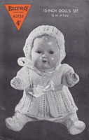 vintage baby doll knitting pattern 1940s