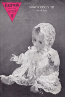 vintage bestway lcy doll knitting pattern for baby doll 1940s