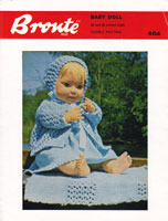 vintage doll knitting pattern for baby doll set 20 inch baby doll