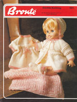 vintage baby doll dress set knitting pattern 1970