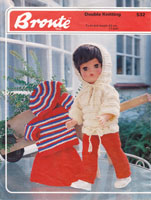 vintage toddler doll knitting pattern trews and jumper skirt and hat set 1970s