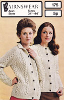 vintage aran knitting pattern for ladies