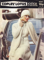ladies aran knitting pattern for jumper hat scarf skirt