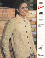 ladies aran jacket 1969