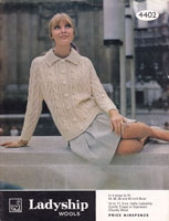 aran knitting pattern for ladies jacket 1960s