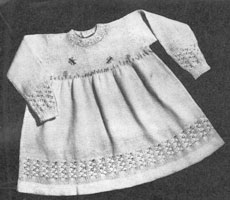 vintage baby knitting pattern for dress 1940s