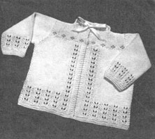 vintage baby knitting pattern for matinee