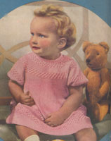 vintage baby dresd knitting pattern 1936