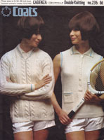 cricket and tennis cardigans for ladies 1960s