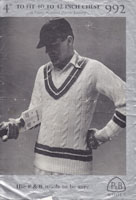 cricket jumper 1940s pattern