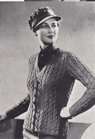 vintage wartime cardigan knitting patterns