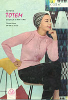 vintage ladies knitting pattern 1950's