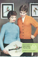 vintage 1950's ladies cardigan knitting pattern from fifties