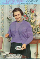 vintage knitting pattern for ladies larger figure
