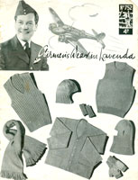 vintage service mens knitting patterns