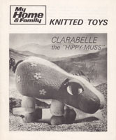 vintage toy pattern hippo