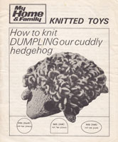 vintage toy patterns hedgehog
