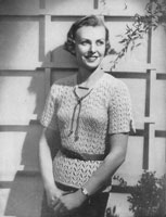 vintage ladies summer jumper knitting pattern from 1936