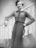 vintage ladies jumper suit from 1936