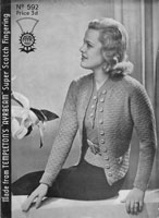 vintage ladies twinset knitting pattern 1930s templetons 592