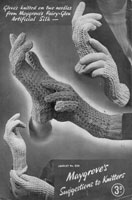 vintage lace gloves knitting pattern from 1930s