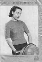 ladies summer tops knitting patterns 1940s