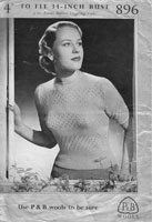 vintage ladies summer tops knitting pattern 1940