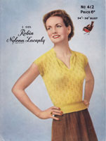 summer tops for ladies 1950s knitting patterns