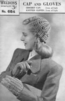ladies hat knitting pattern 1940s
