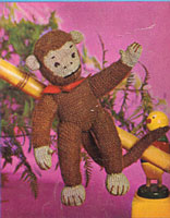 vintage knitting pattern for monkey